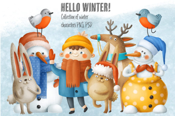 Print on Demand: Winter Characters Graphic Illustrations By Architekt_AT - Image 1