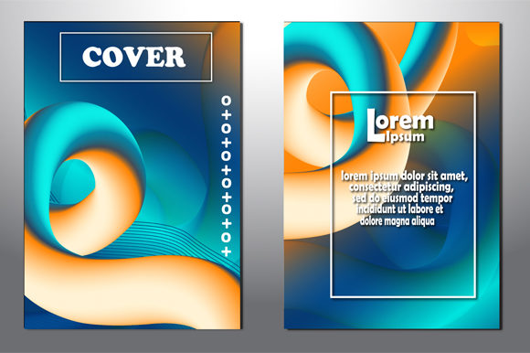 Print on Demand: Abstract Modern Art Covers Template Set Graphic Graphic Templates By imammuslim835