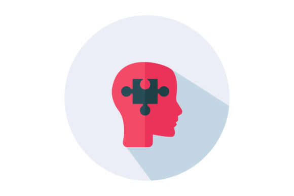 Download Free Brain Puzzle Flat Vector Icon Graphic By Riduwan Molla for Cricut Explore, Silhouette and other cutting machines.