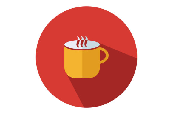 Download Free Coffee Mug Flat Vector Icon Graphic By Riduwan Molla Creative for Cricut Explore, Silhouette and other cutting machines.