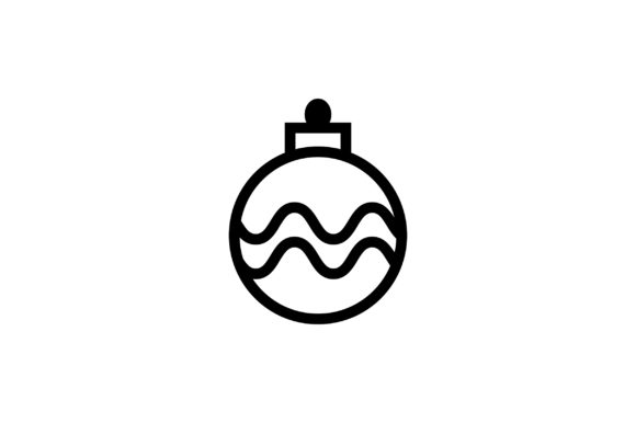 Download Free Christmas Bulb Line Art Vector Icon Graphic By Riduwan Molla for Cricut Explore, Silhouette and other cutting machines.