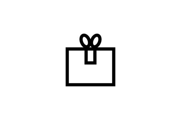 Download Free Christmas Gift Box Line Art Vector Icon Graphic By Riduwan Molla for Cricut Explore, Silhouette and other cutting machines.