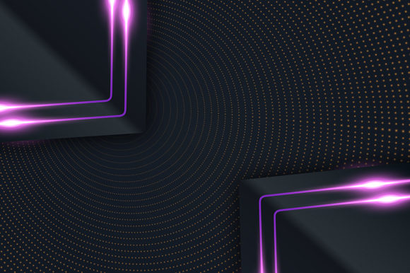 Print on Demand: Black-paper-cut-background-with-violet Graphic Backgrounds By imammuslim835