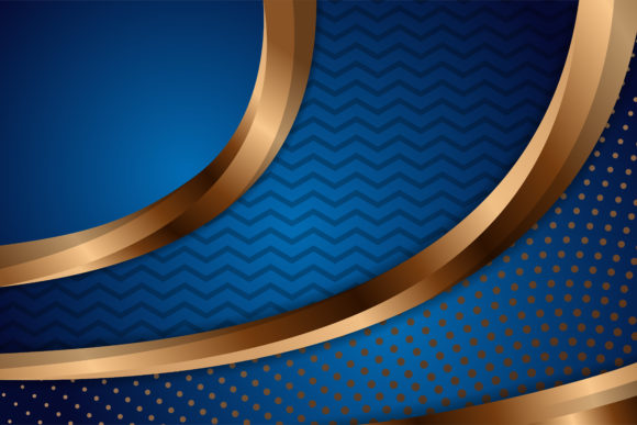 Print on Demand: Blue Gold Background Pattern Graphic Backgrounds By noory.shopper - Image 1