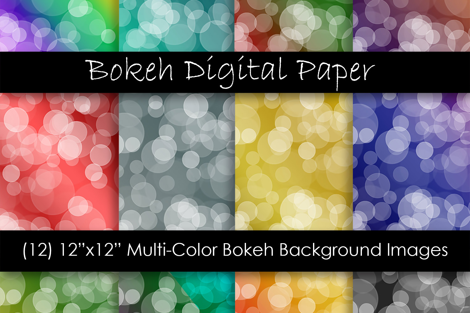 Download Free Bokeh Digital Papers Ombre Bokeh Graphic By Gjsart Creative for Cricut Explore, Silhouette and other cutting machines.
