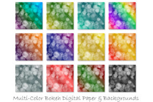 Bokeh Digital Papers - Ombre Bokeh Graphic Backgrounds By GJSArt 2