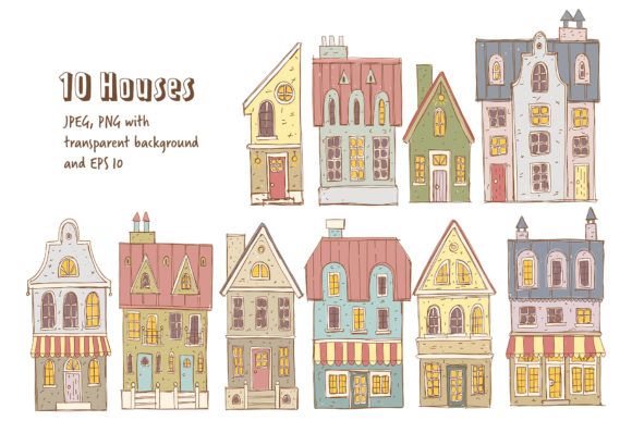 Print on Demand: Old Town Clipart Collection Graphic Illustrations By Architekt_AT - Image 2