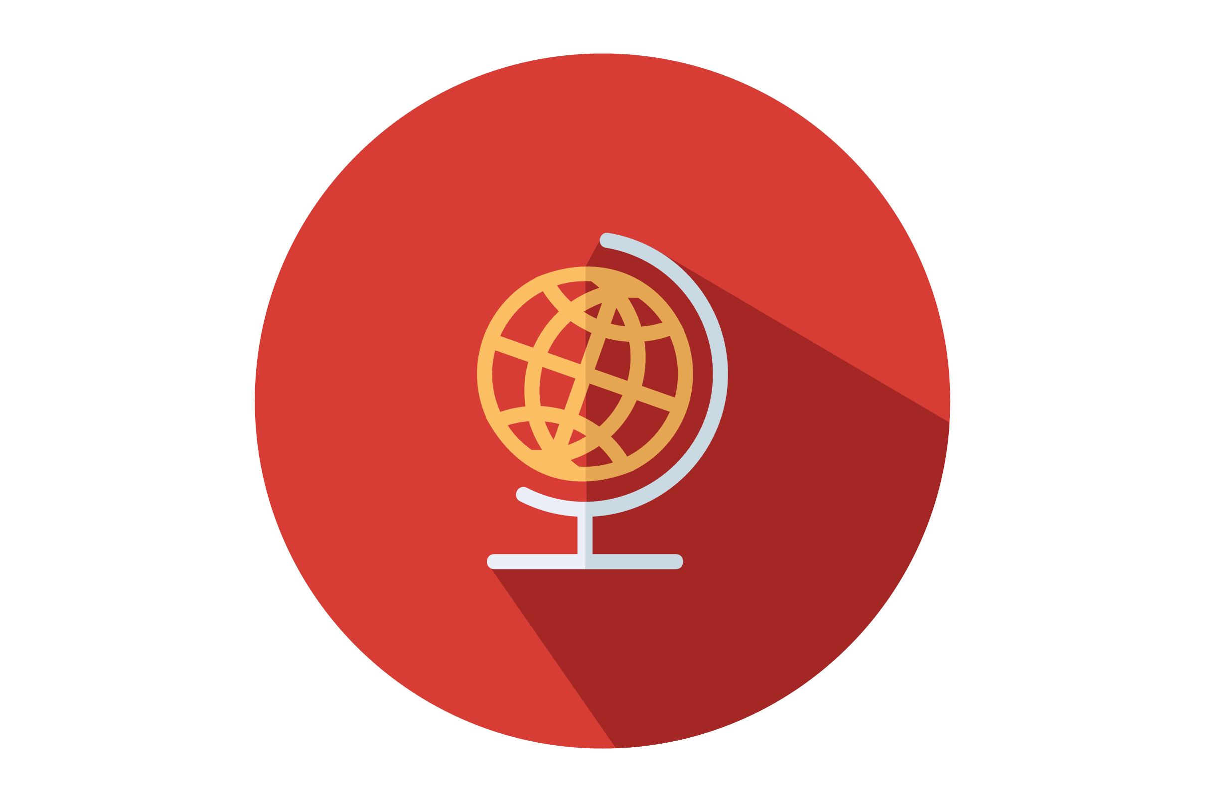 Download Free Globe Flat Icon Vector Graphic By Riduwan Molla Creative Fabrica for Cricut Explore, Silhouette and other cutting machines.