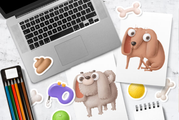 Print on Demand: Dogs Clipart Set 1 Graphic Illustrations By Architekt_AT - Image 3