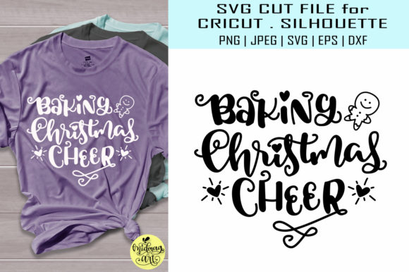 Download Free Baking Christmas Cheer Graphic By Midmagart Creative Fabrica for Cricut Explore, Silhouette and other cutting machines.