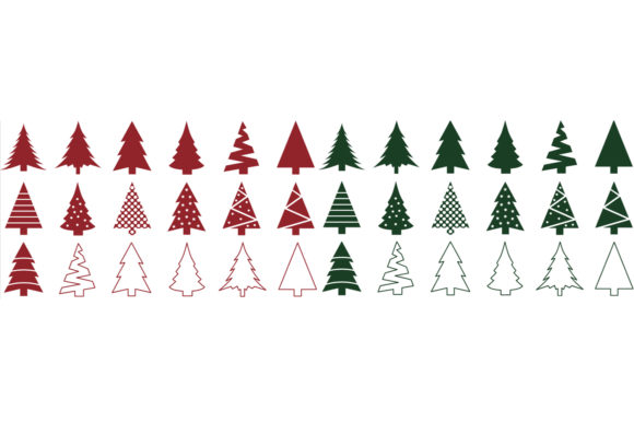 Christmas Tree Clip Art Bundle Graphic Objects By GJSArt - Image 2