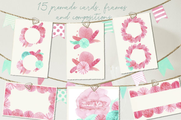 Paper Decor Watercolor Collection Graphic Illustrations By Cat In Colour - Image 2