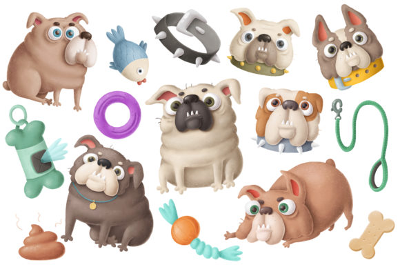 Print on Demand: Dogs Clipart Set 2 Graphic Illustrations By Architekt_AT - Image 7