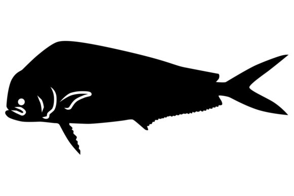 Download Free Dolphin Mahi Mahi Silhouette Grafico Por Idrawsilhouettes Creative Fabrica for Cricut Explore, Silhouette and other cutting machines.