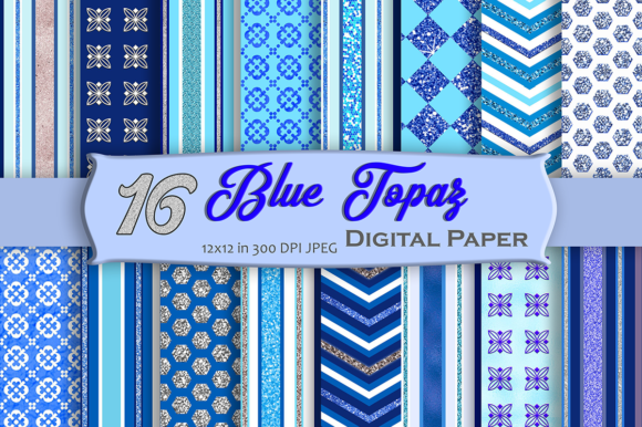 Download Free Blue Topaz Digital Paper Graphic By Mrn Digishop Creative Fabrica for Cricut Explore, Silhouette and other cutting machines.