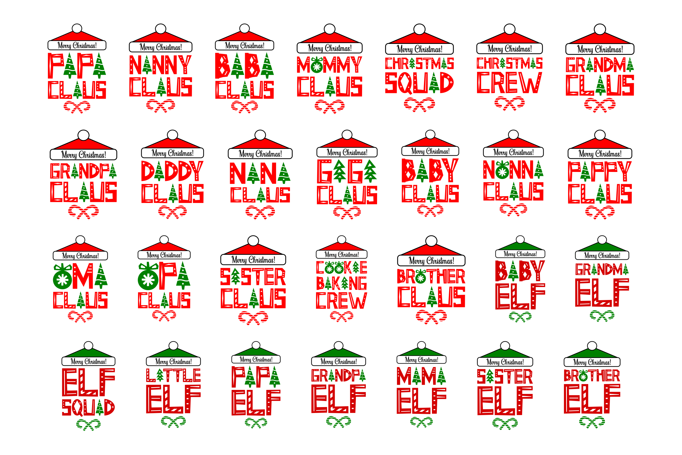 Download Free Family Christmas Bundle Graphic By Colorsplash Creative Fabrica for Cricut Explore, Silhouette and other cutting machines.