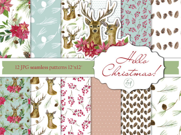 Christmas Patterns Graphic Patterns By lena-dorosh