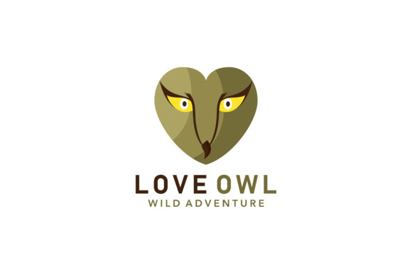 Face Love Owl Logo Graphic By Noory Shopper Creative Fabrica