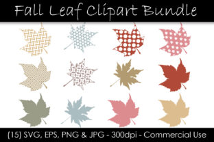 Fall Leaf Clipart Bundle Graphic Illustrations By GJSArt