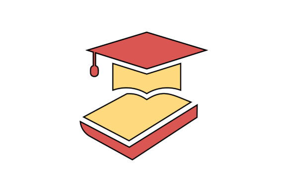 Download Free Graduation Cap Filled Outline Icon Graphic By Riduwan Molla for Cricut Explore, Silhouette and other cutting machines.