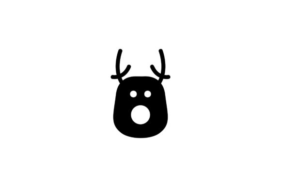 Download Free Christmas Deer Glyph Vector Icon Graphic By Riduwan Molla for Cricut Explore, Silhouette and other cutting machines.