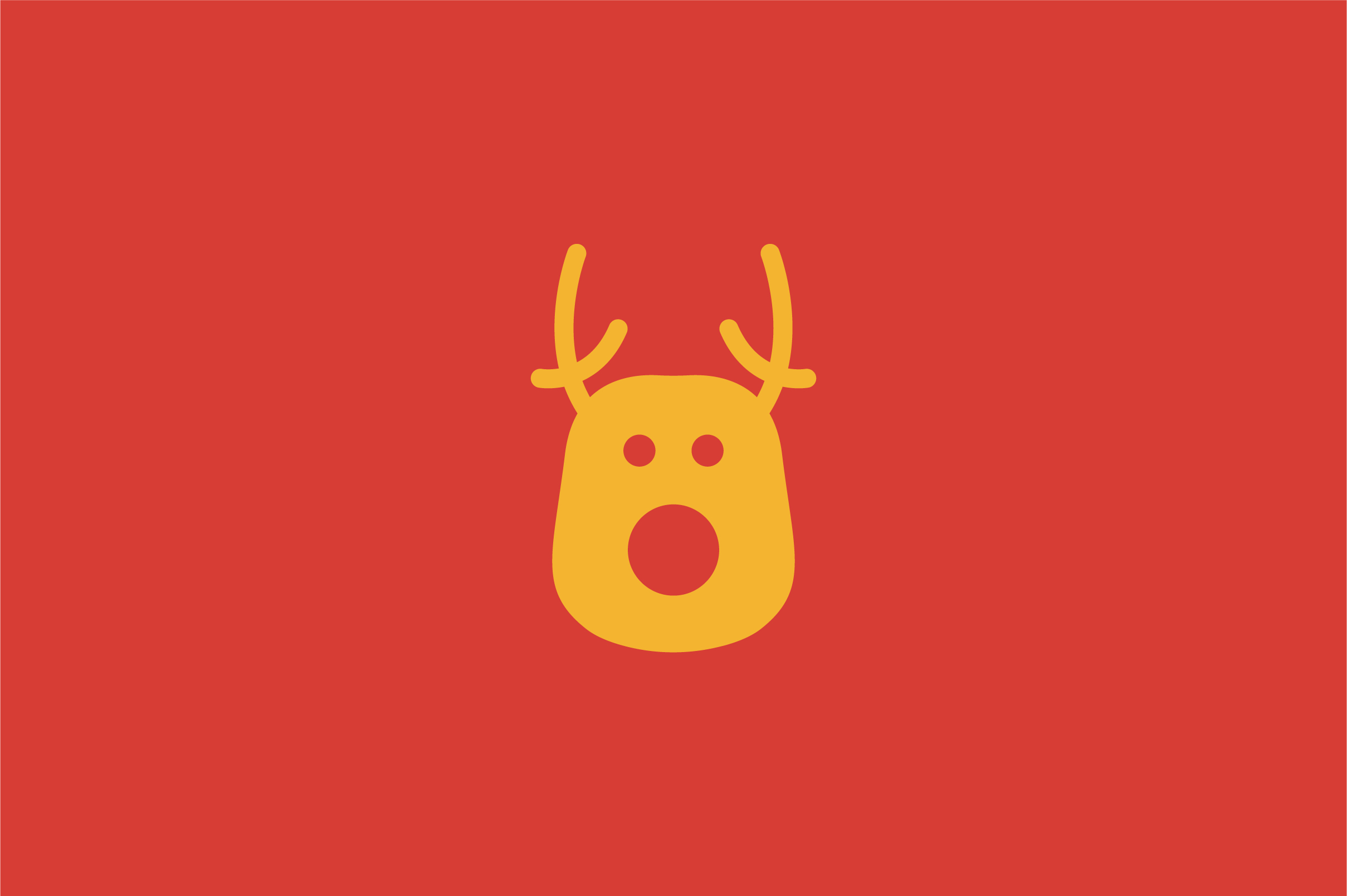 Download Free Christmas Deer Flat Vector Icon Graphic By Riduwan Molla for Cricut Explore, Silhouette and other cutting machines.