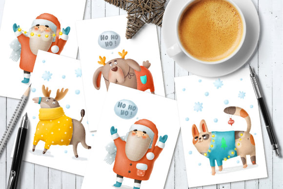 Print on Demand: Christmas Clipart and Characters Set Graphic Illustrations By Architekt_AT - Image 7