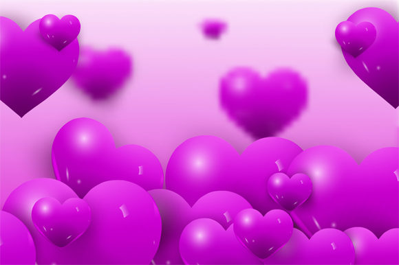Print on Demand: Happy Valentine Pink Flowing Glossy Graphic Graphic Templates By imammuslim835