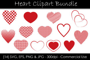 Heart Clip Art Bundle - Heart Shapes Graphic Objects By GJSArt