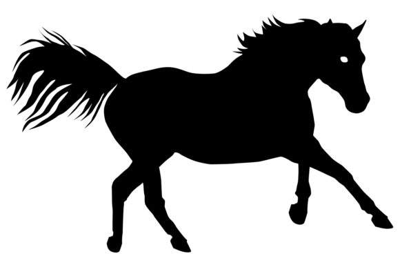 Horse Silhouette Graphic Illustrations By iDrawSilhouettes