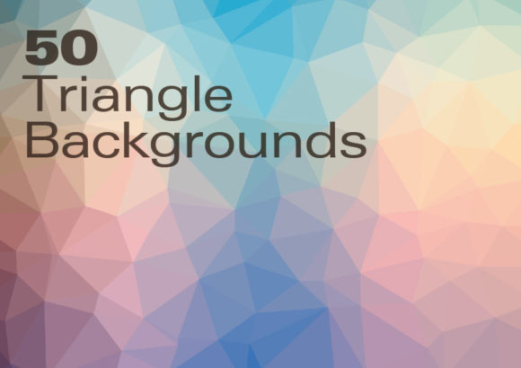 Print on Demand: 50 Triangle Backgrounds Graphic Backgrounds By GraphicsBam Fonts