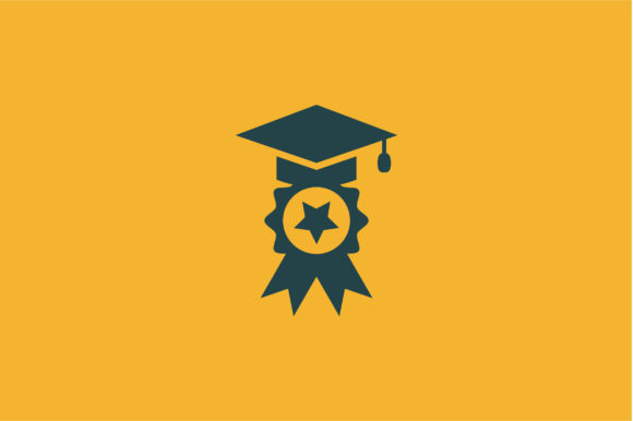 Download Free Graduation Cap And Star Icon Vector Graphic By Riduwan Molla for Cricut Explore, Silhouette and other cutting machines.