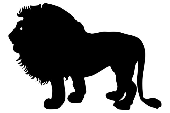 Download Free Male Lion Silhouette Graphic By Idrawsilhouettes Creative Fabrica for Cricut Explore, Silhouette and other cutting machines.