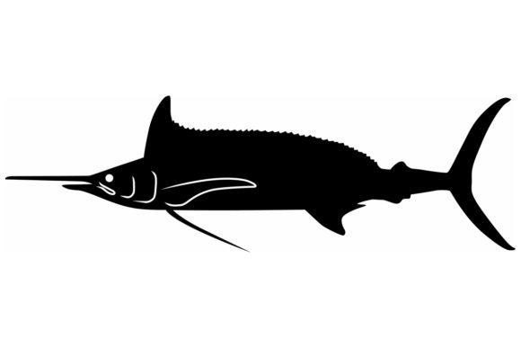 Download Free Longbill Spearfish Silhouette Graphic By Idrawsilhouettes for Cricut Explore, Silhouette and other cutting machines.