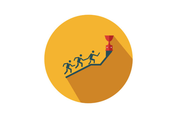 Download Free Competition For Win Trophy Flat Icon Graphic By Riduwan Molla SVG Cut Files