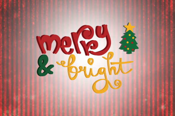 Download Free Merry And Bright Christmas Quotes Graphic By Wienscollection for Cricut Explore, Silhouette and other cutting machines.