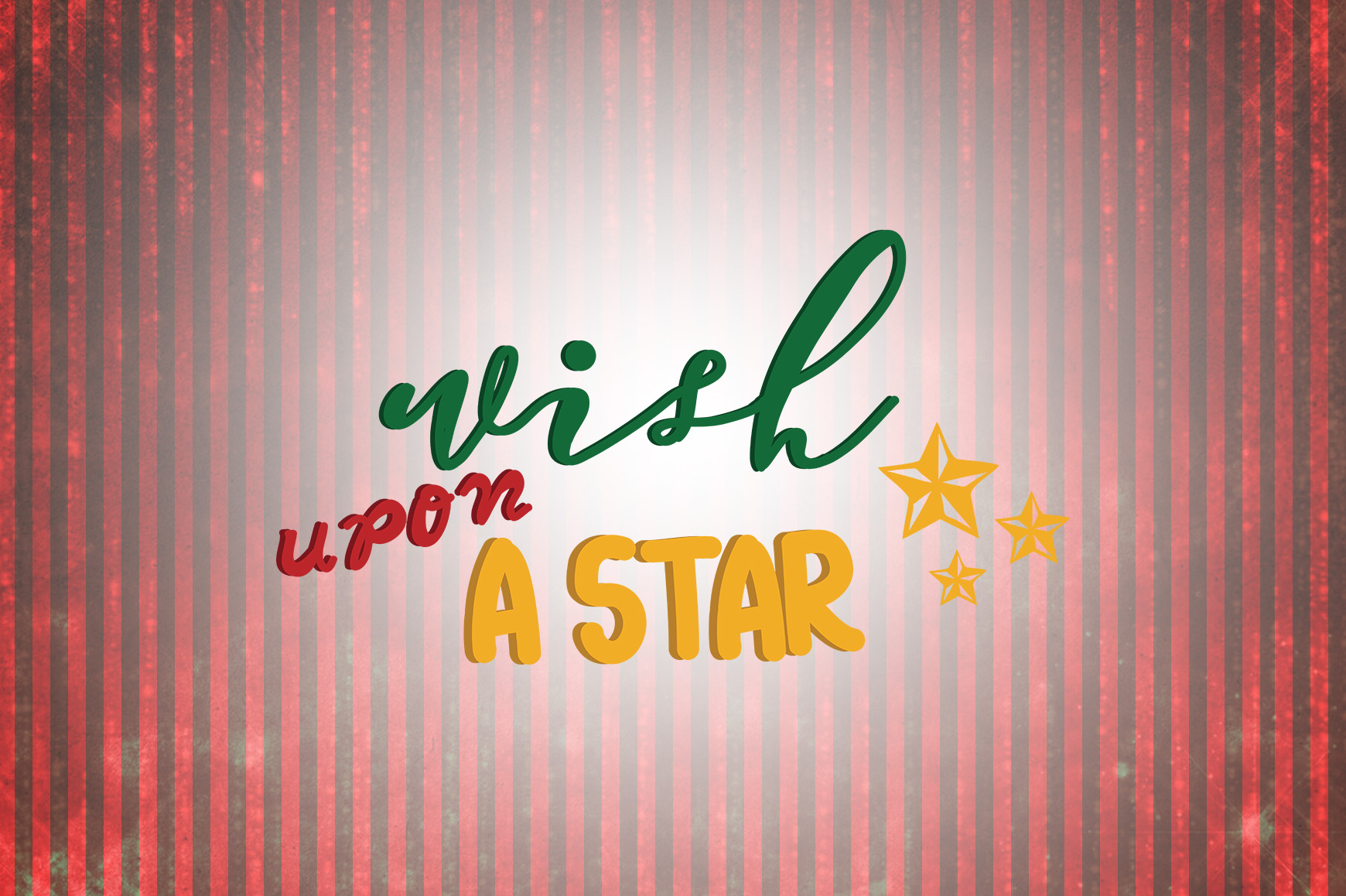 Download Free Wish Upon A Star Christmas Quotes Graphic By Wienscollection for Cricut Explore, Silhouette and other cutting machines.