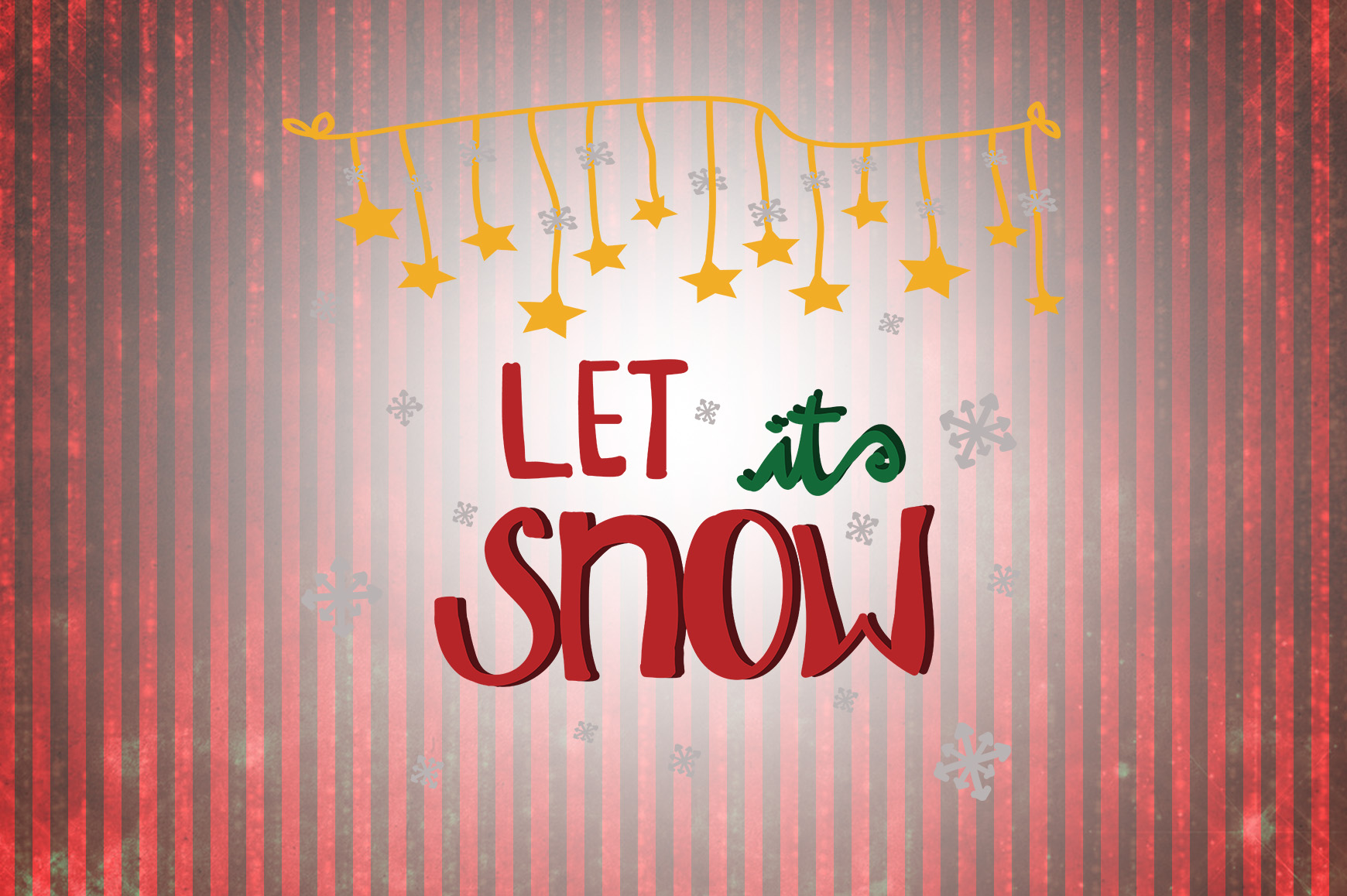 Download Free Let It Snow Christmas Quotes Graphic By Wienscollection for Cricut Explore, Silhouette and other cutting machines.