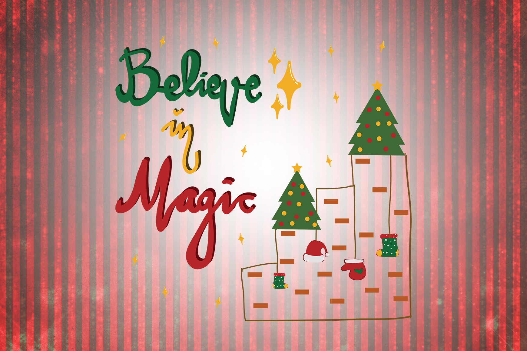 Believe In Magic Christmas Quotes Graphic By Wienscollection