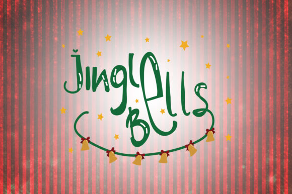 Download Free Jingle Bells Christmas Quotes Graphic By Wienscollection for Cricut Explore, Silhouette and other cutting machines.