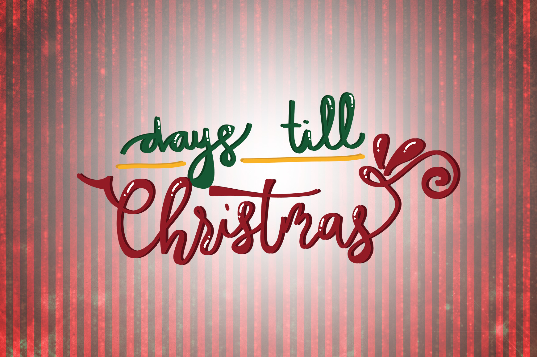Download Free Days Till Christmas Quotes Graphic By Wienscollection Creative for Cricut Explore, Silhouette and other cutting machines.