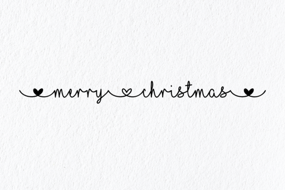 Print on Demand: Merry Christmas Heart Font Graphic Crafts By AM Digital Designs
