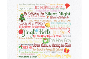 Download Free Christmas Art Song Compilation Graphic By Am Digital Designs for Cricut Explore, Silhouette and other cutting machines.