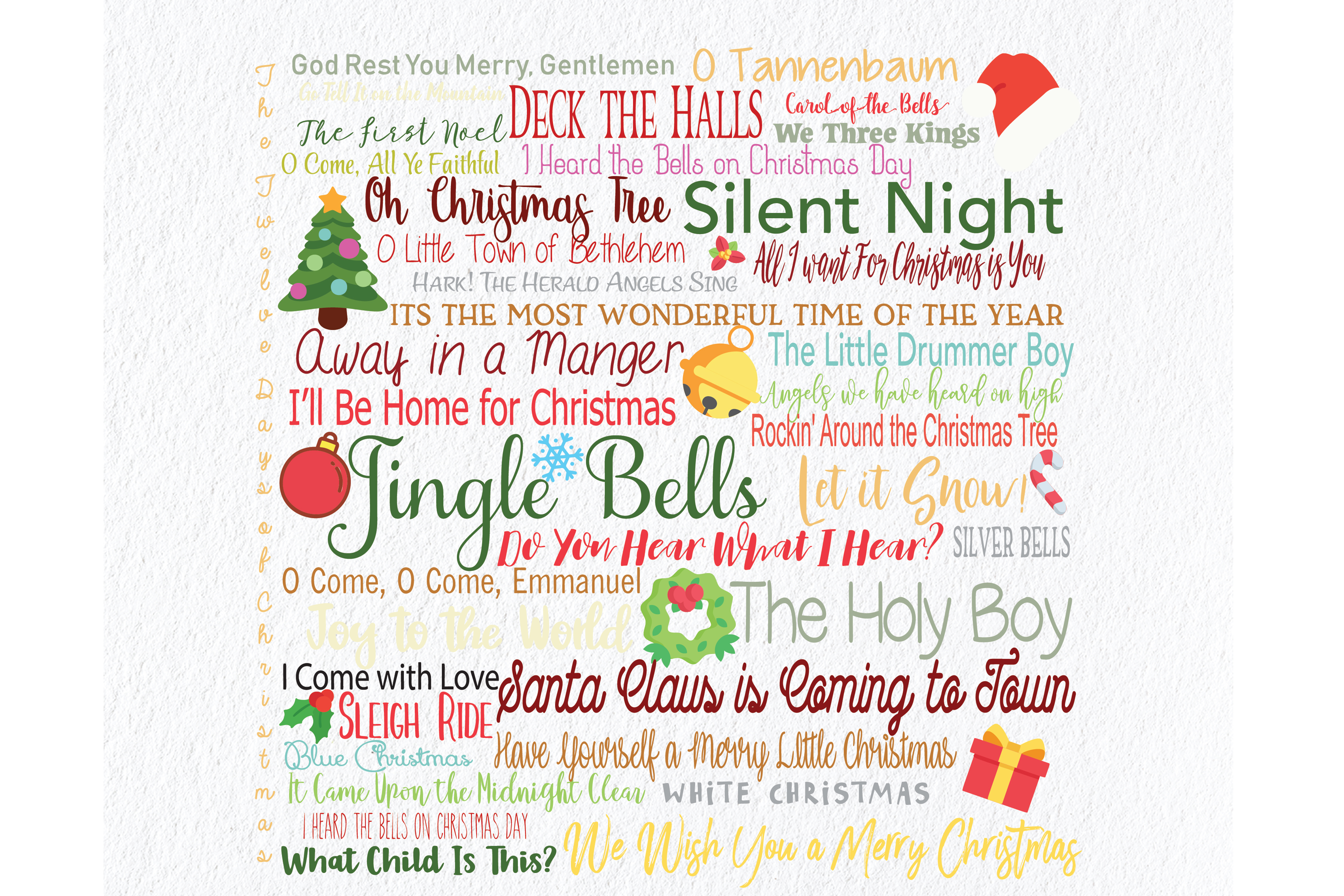 Download Free Christmas Art Song Compilation Graphic By Am Digital Designs SVG Cut Files