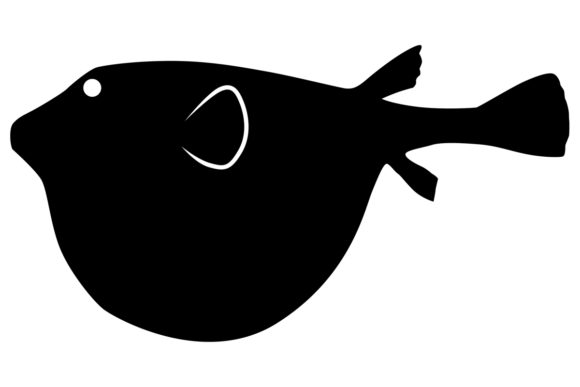 Download Free Northern Puffer Fish Silhouette Graphic By Idrawsilhouettes for Cricut Explore, Silhouette and other cutting machines.