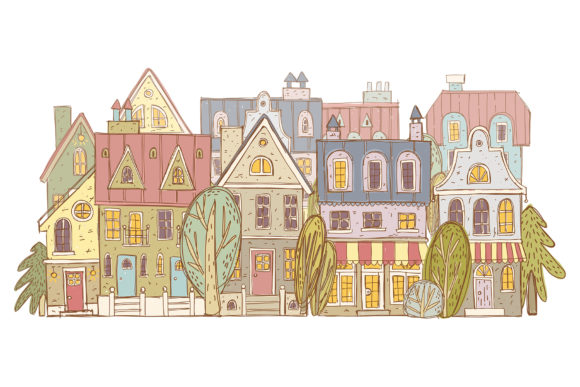 Print on Demand: Old Town Clipart Collection Graphic Illustrations By Architekt_AT - Image 7