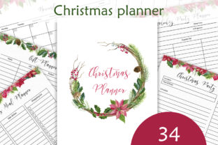 Print on Demand: Christmas Planner Letter Size Graphic Crafts By Elena Dorosh Art