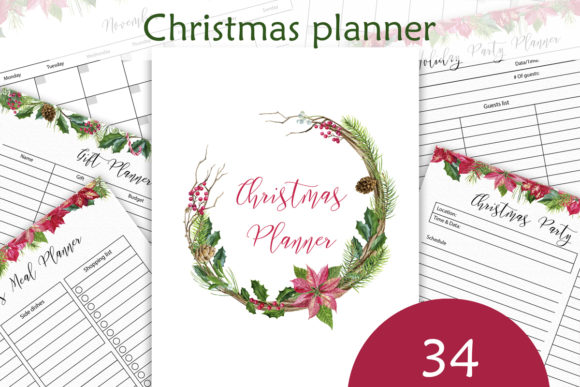 Christmas Planner Letter Size Graphic Crafts By lena-dorosh