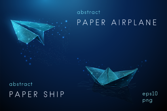 Abstract Paper Airplane and Paper Ship Graphic Graphic Templates By butus.cm