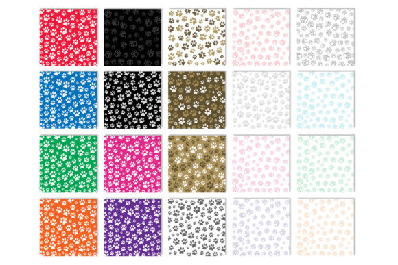 Download Free Paw Print Patterns Graphic By Gjsart Creative Fabrica for Cricut Explore, Silhouette and other cutting machines.